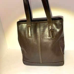 COACH Vintage Brown Leather Bag #D13-7776